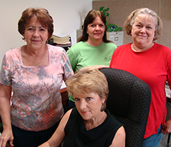 The heart of Magnolia Steel - our office staff.